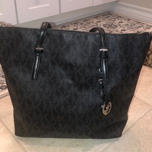 Michael Kors black leather purse / work bag